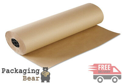 750mm x 50M STRONG BROWN KRAFT WRAPPING PACKAGING POSTAL PAPER 88gsm