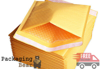 1000 x Gold F/3 Padded Bubble Bags Envelope Postal Mailers (220x340mm) GP6