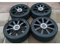 genuine audi tt alloy wheels refurbished with tyres 5x100 8j et33