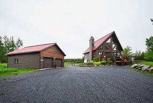 Log home on 6 acres in Alexandria