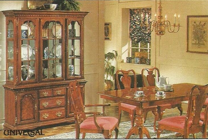 Large Cherrywood Veneer Dining Room Set Table 8 Chairs And Buffet Hutch In St Austell Cornwall Gumtree