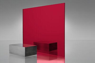 Red Mirror Acrylic Plexiglass Sheet 18 X 11-12 X 11-12