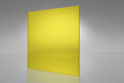 Yellow Transparent Acrylic Plexiglass Sheet 116 X 6 X 12 2208