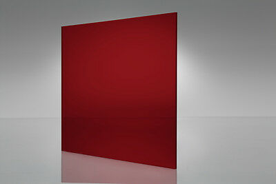 Red Transparent Acrylic Plexiglass Sheet 116 X 6 X 12 2423