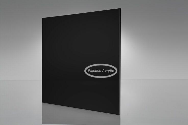 "Black Acrylic Plexiglass sheet 1/8"" x 12"" x 12"""