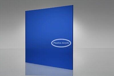 Blue-dark Transparent Acrylic Plexiglass Sheet 116 X 12 X 12 2424