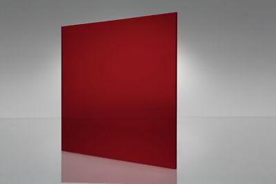Acrylic Red Transparent Plexiglass .125 - 18 X 24 X 24 Sheet 2423