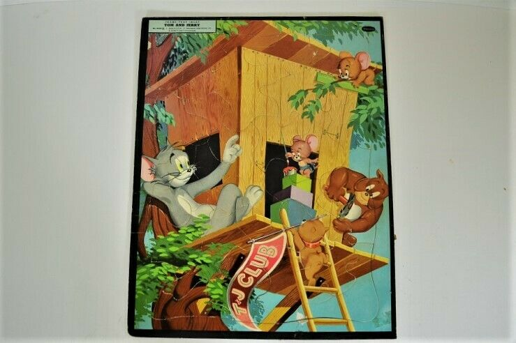 Vintage 1954 TOM AND JERRY Frame Tray Puzzle
