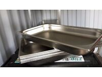 Vogue heavy duty stainless steel Gastronorm pans