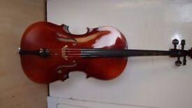 3/4 size Stradivarius Model Cello in good condition