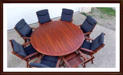 OUTDOOR FURNITURE SALE! - Quality 9 PCE  dining setting Brisbane City Brisbane North West Preview