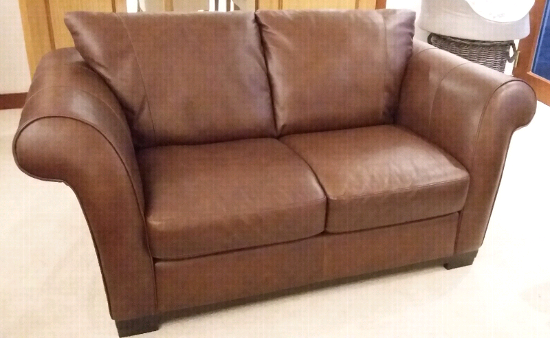 Excellent 2 Seater Leather Sofa In Dunfermline Fife Gumtree Pabps2019 Chair Design Images Pabps2019Com