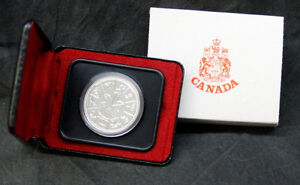 Canada Proof silver dollar coins