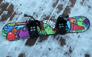 Sims Snowboards with K2 Bindings