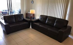 Leather lounges (2&3 seater) Upper Kedron Brisbane North West Preview