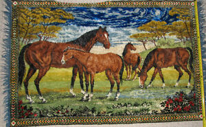 Horse Wall Carpet Tapestry with fringe London Ontario image 1