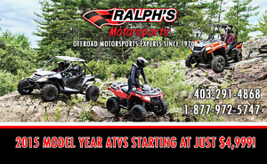 FIND BLOWOUT PRICING ON 2015 ARCTIC CAT ATVS & UTVS!