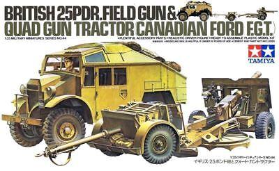 (Tamiya British 25PDR Gun & Quad Tractor 1/35 Scale Kit #35044)