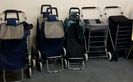Shopping Trolley s. 2 Wheels £7. 4 wheels £10. 6 wheels £15.