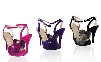 Women Shoes High Heels Sexy Style Fashion Design Faux Suede Fur Rhinestone (Fashion Designer High Heels)