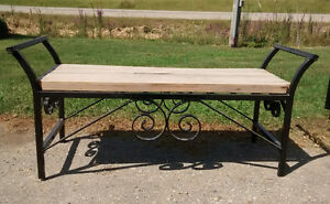 Handcrafted Metal-wood Benches