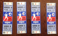 3 BILLETS SERIES MONDIALES 1981 EXPOS MONTREAL 1981 W.S. TICKETS