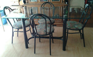 Glass Top 5 Piece Dining Set