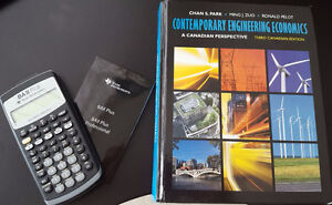 FMGT 8295 Engineering Economics, book, BA2 calculator, notes