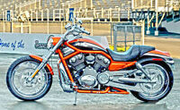 Screaming Eagle V-Rod Org/Blk/Chrome