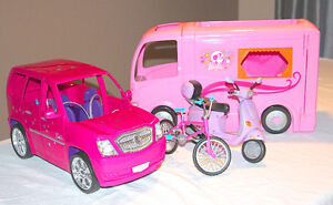 Barbie Camper, Limo/SUV, Vespa and Bicycle Kingston Kingston Area image 1