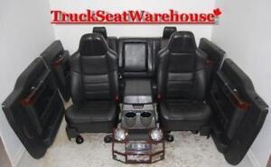 Ford F250 BLACK LEATHER Truck Seats 2008 Console Door Pads F350