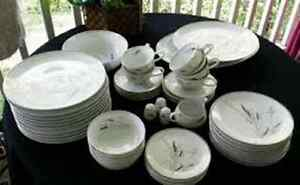Ceralia by Easterling -  Bone China - Grey Wheat Pattern