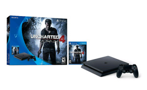 Ps4 slim uncharted bundle with two controllers mint