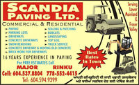 Scandia Paving ltd looking for dump truck driver/general labour!