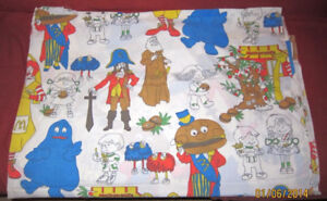 RARE McDonald's twin bed sheet 1970s * PRICE DROP *