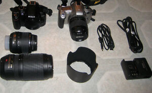 mint condition D-3000, F-50, with lenses and case