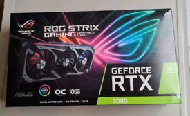 ASUS ROG Strix GeForce RTX 3080 Gaming OC 10GB GDDR6X Graphics Card