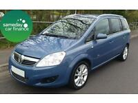 ONLY £118.01 PER MONTH BLUE 2008 VAUXHALL ZAFIRA 1.9 CDTI DESIGN MANUAL DIESEL