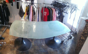 Flosted Glass Table