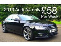 2013 AUDI A4 TDI BLACK EDITION STYLE***FINANCE AVAILABLE***IMMACULATE CAR***£30 ROAD TAX