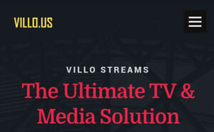 VILLO.US IPTV - Best Value - $15 for 5 Connections | VOD Incl!