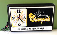 Sparkling Champale Lighted Beer Sign with Working Clock