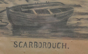 Antique pencil sketch of Scarborough 1880 signed Kitchener / Waterloo Kitchener Area image 3