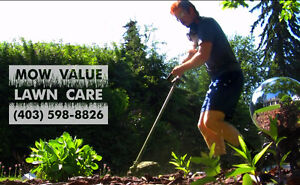 MOW VALUE for weekly mowing and lawn maintenance