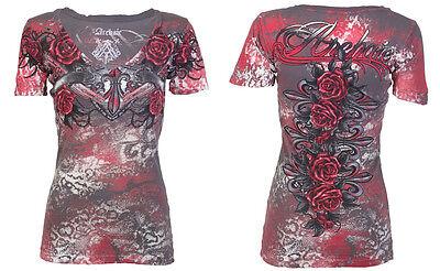 Archaic AFFLICTION Women T-Shirt HOT GIRL Guns Roses Biker UFC Sinful S-XL $40 b