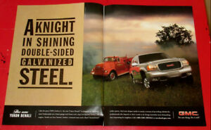 1998 GMC YUKON DENALI SUV AD WITH CLASSIC FIRE TRUCK - ANONCE