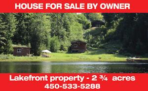 Magnifique maison sur le lac à Pine Hill Brownsburg Chatham