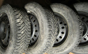 225 65 R17*4Winter Tires*GOODYEAR-ULTRAGRAP*RIMS*PRESSURE VALVES