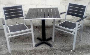Restaurant quality patio chairs and tables