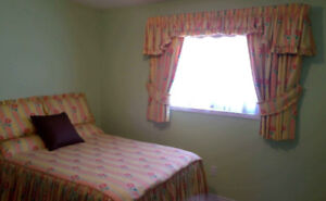 Drapes and matching Coverlet Set
